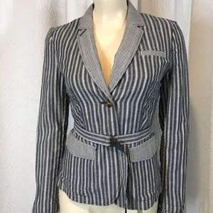 BANANA REPUBLIC- 💯 COTTON STRIPED BLAZER